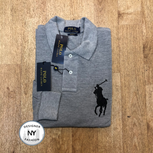 Logo Grey Ralph Lauren Long Sleeved polo big pony 25.10.19