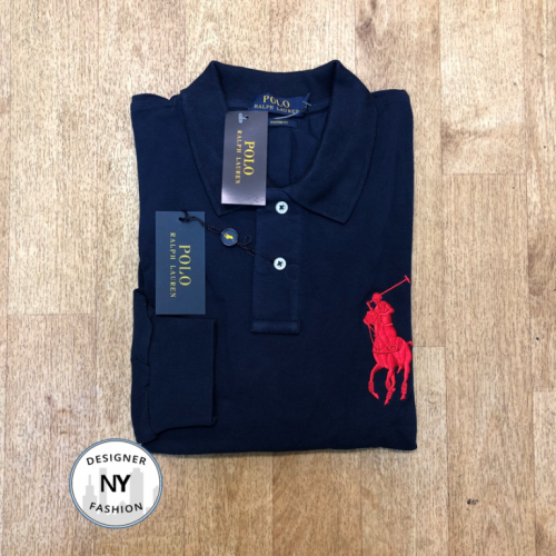 Logo Navy Ralph Lauren Long Sleeved polo big pony 25.10.19