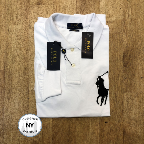 Logo White Ralph Lauren Long Sleeved polo big pony 25.10.19
