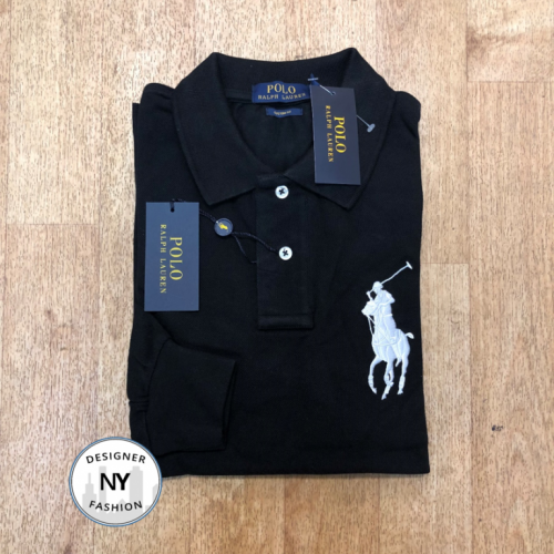 Logo black Ralph Lauren Long Sleeved polo big pony 25.10.19