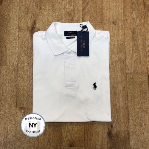 Logo White (Solid) Ralph Lauren Custom Slim Fit