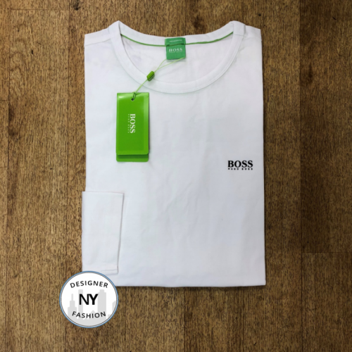 Logo Hugo Boss CN long sleeve Sept White
